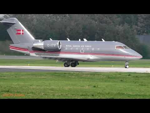 Danish AF  CL-604 Challenger departure Leeuwarden AB (EHLW)