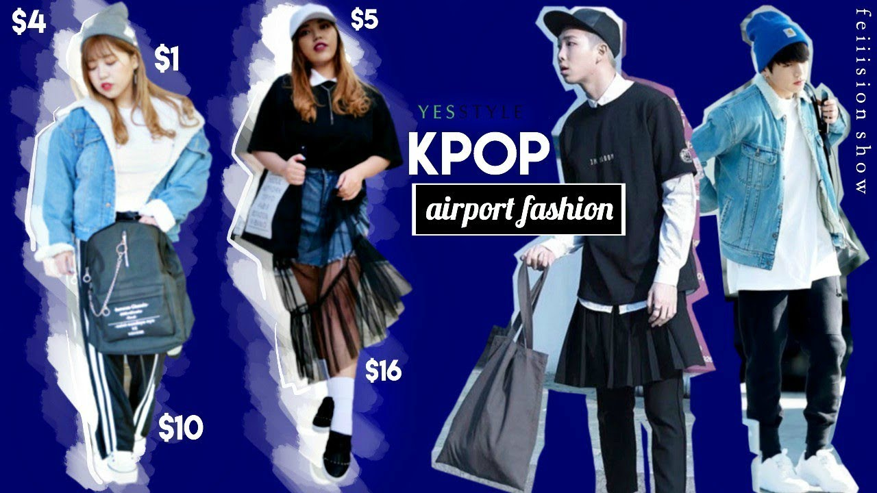 Cheap KPOP AIRPORT FASHION Outfits ft. Yesstyle! - YouTube