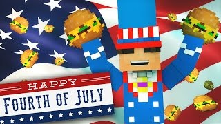 Minecraft Do Not Laugh | ALL THE AMERICAN MEMES! (Funny Moments)