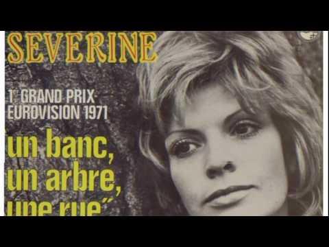 Séverine '' Un banc, un arbre, une rue'' 1er Grand prix d'eurovision 1971