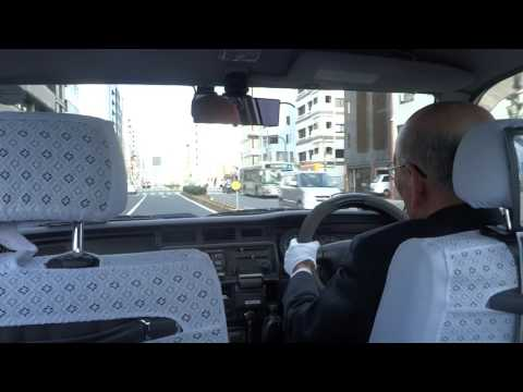 In taxi in Kyoto