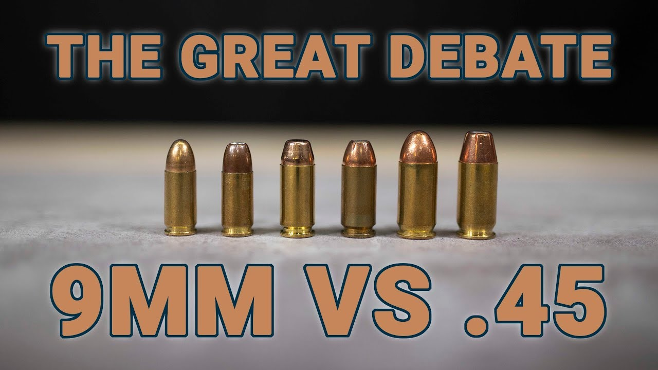 9mm vs  45 - why are people still debating this?