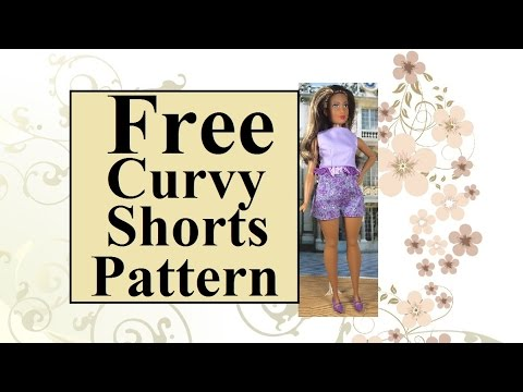 Tutorial With Free Pattern For Curvy Barbies Lammily Or Tammy