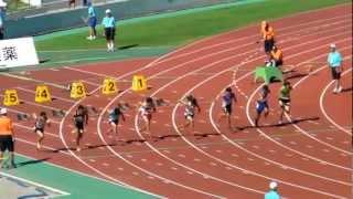 全国中学校陸上競技 男子 100m 決勝 2012.8.22 日本のボルト誕生!?