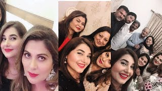 javeria saud hosts dinner at her place with famous celebrities