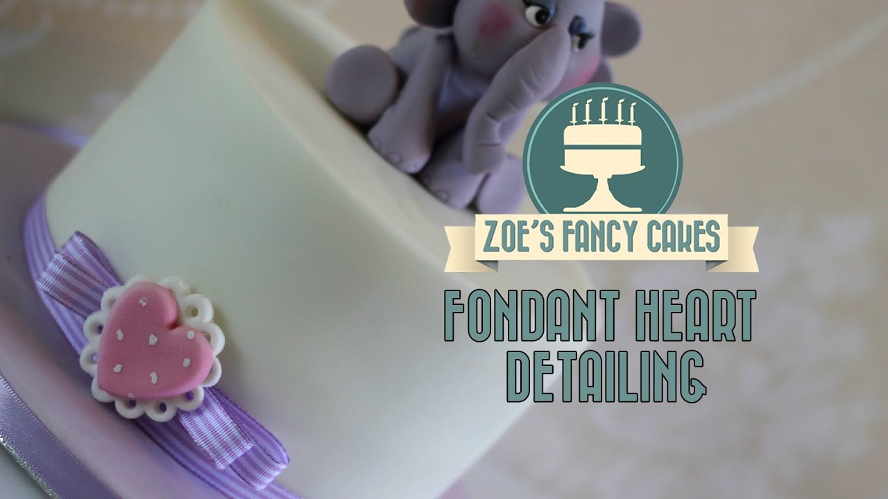 Fondant Heart Detailing Finish Cakes With Cake