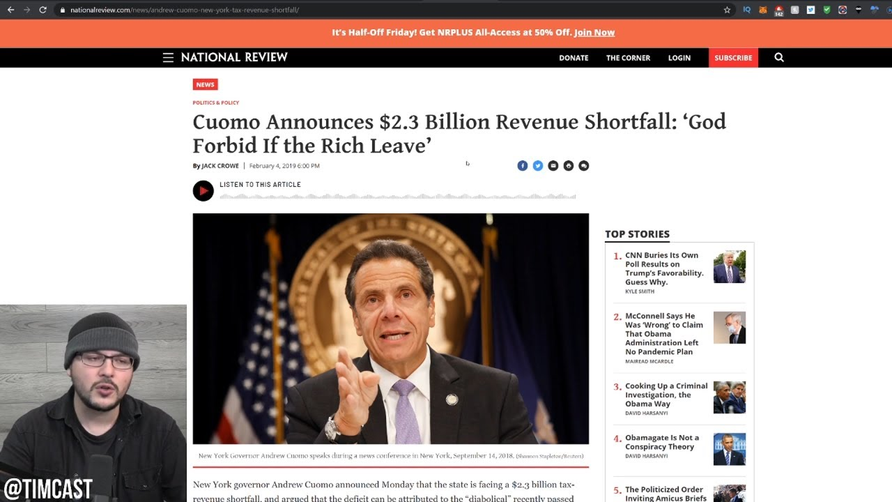 New York Is COLLAPSING, Cuomo's Worst Fear Just Happened, The Rich Fled And Took Their Money