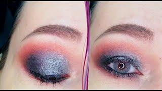 Темный серебристый макияж глаз в стиле смоки айс Пошаговый урок