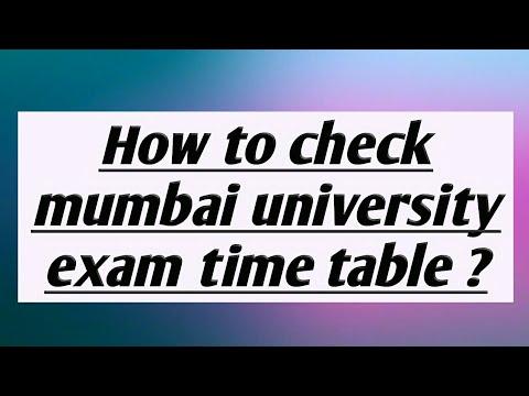 How To Check Mumbai University Exam Time Table