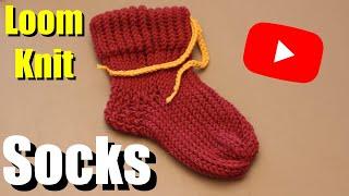 How to loom knit socks - Beginner Tutorial