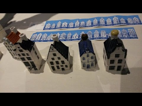 Al Munro presents KLM Airlines Delft Blue Miniature House Bottles