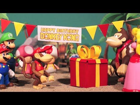 Super Mario toys movie - Donkey Kong's Birthday