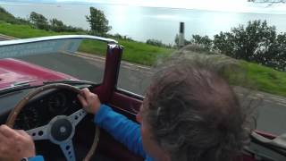 E Type Club Round Britain Coastal Drive supporting Prostate Cancer UK