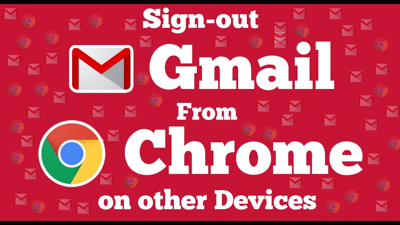 how to log out of google account chrome