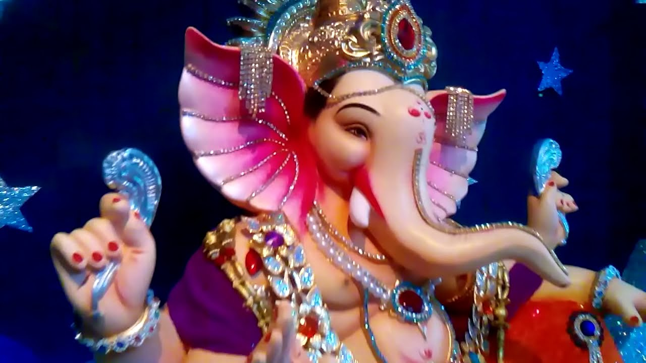 Home Ganpati Decoration 2015 BHAVIK RATHOD - YouTube