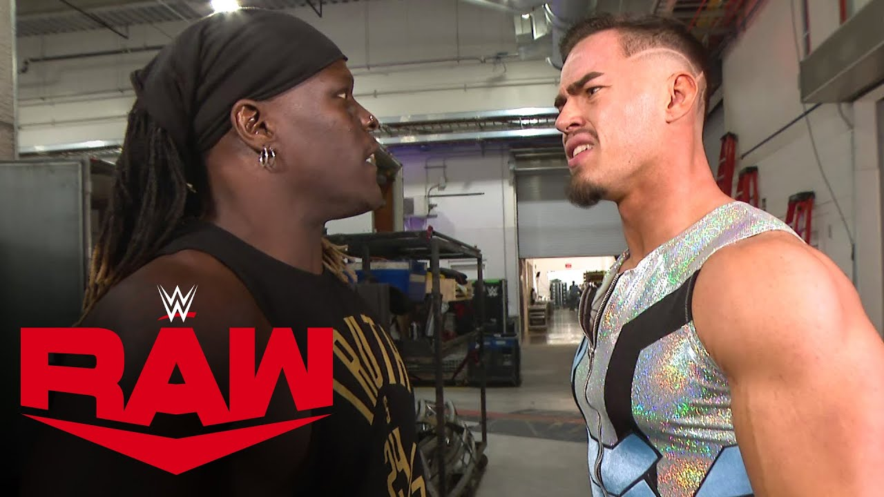 Download R-Truth crashes Austin Theory's interview in pursuit of the 24/7 Title: Raw, Oct. 18, 2021