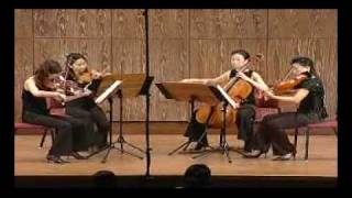 L.v.Beethoven String Quartet op.18 No.4 in c-minor 2 mov. Scherzo Andante scherzoso quasi Allegretto