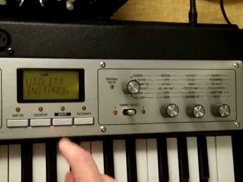 KORG microKORG XL setting for TALKBOX