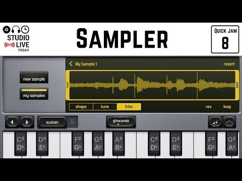How to use the sampler in GarageBand iOS (iPhone/iPad)