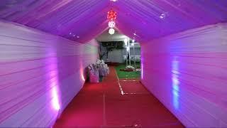 wedding mandap construction. City tent house Imphal