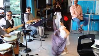 Cuban girl dance at Habanas restaurant in alameda