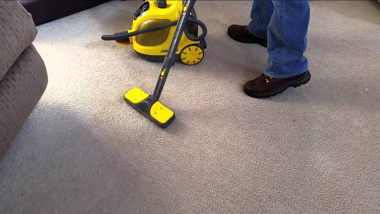 Vapamore Mr100 Steam Cleaning Carpet Stains Youtube