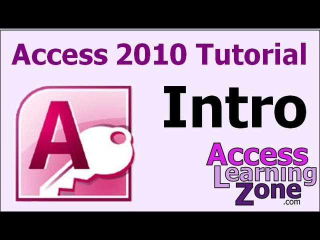 Microsoft Access 2010 for Beginners - Level 1