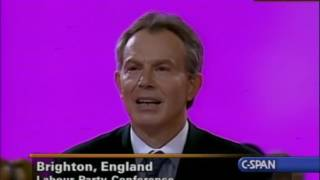 Tony Blair Heckled Twice During Conference Speech