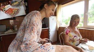 #185 Влог! У Родителей! Готовим с Мамой Лазанью!