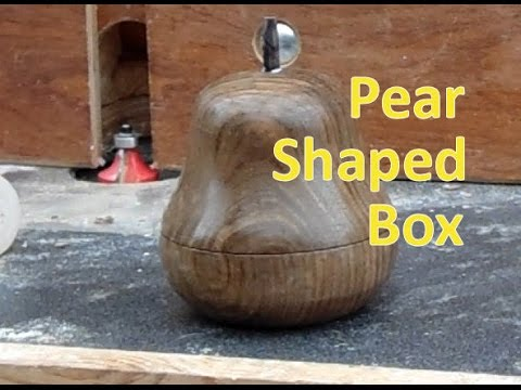 Pear Box from Walnut - Trying out my Carbide Woodturning Tools