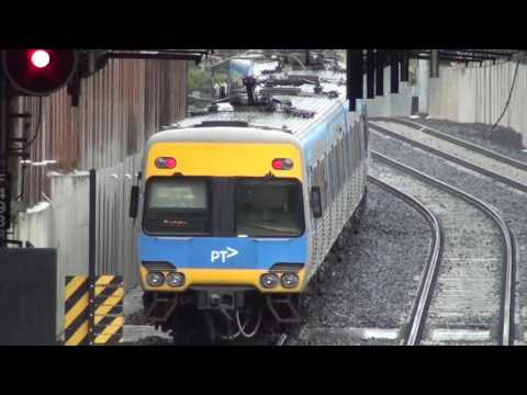 Trains at the new Bentleigh station - Metro Trains