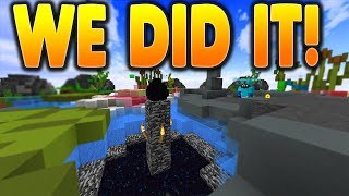 KILLING THE ENDER DRAGON + 32 FIREBALLS AT ONCE!! | Minecraft BedWars