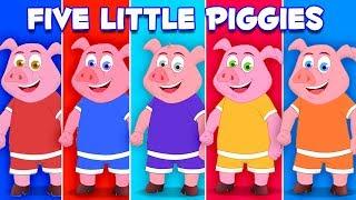 ลูกหมูห้าตัว | เพลงกระโดดหมู | เรียนรู้การนับตัวเลข | เพลงสำหรับเด็ก | Five Little Piggies