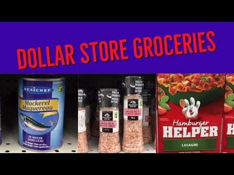 Dollar Store Groceries - Dollarama