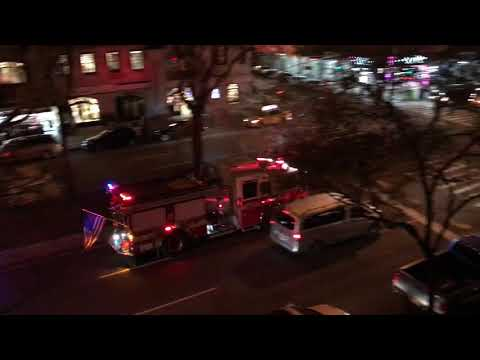 RARE CATCH OF FDNY ENGINE 65 RESPONDING ON BROADWAY...