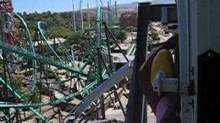Batman The Ride at Six Flags Magic Mountain - from inside Thumbnail