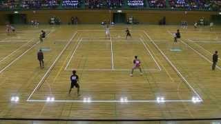 ソフトテニス 第26回全日本選抜ソフトテニス熊本大会 Bブロック予選 篠原・菅野-船水・九島