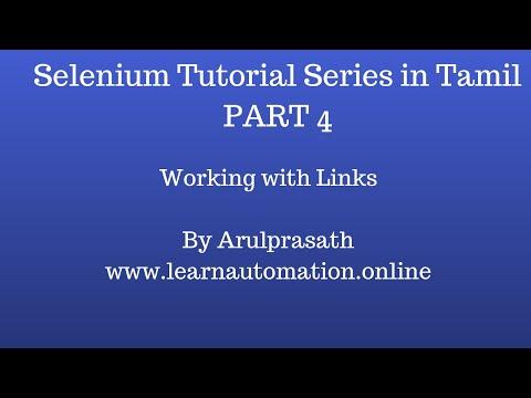 selenium-tutorial-series-|-tamil-|-part-4---how-to-work-with-links-in-selenium