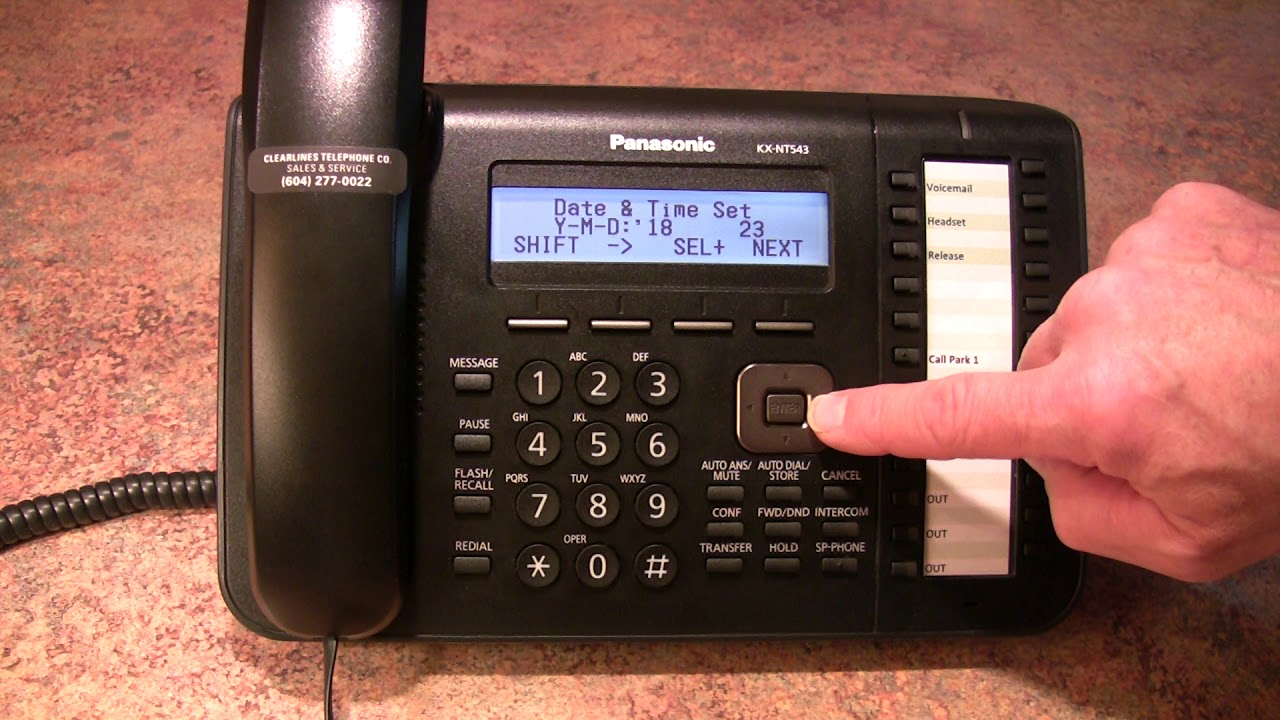 How To Change The Time On A Panasonic Dt543 Ns700 Manual Guide