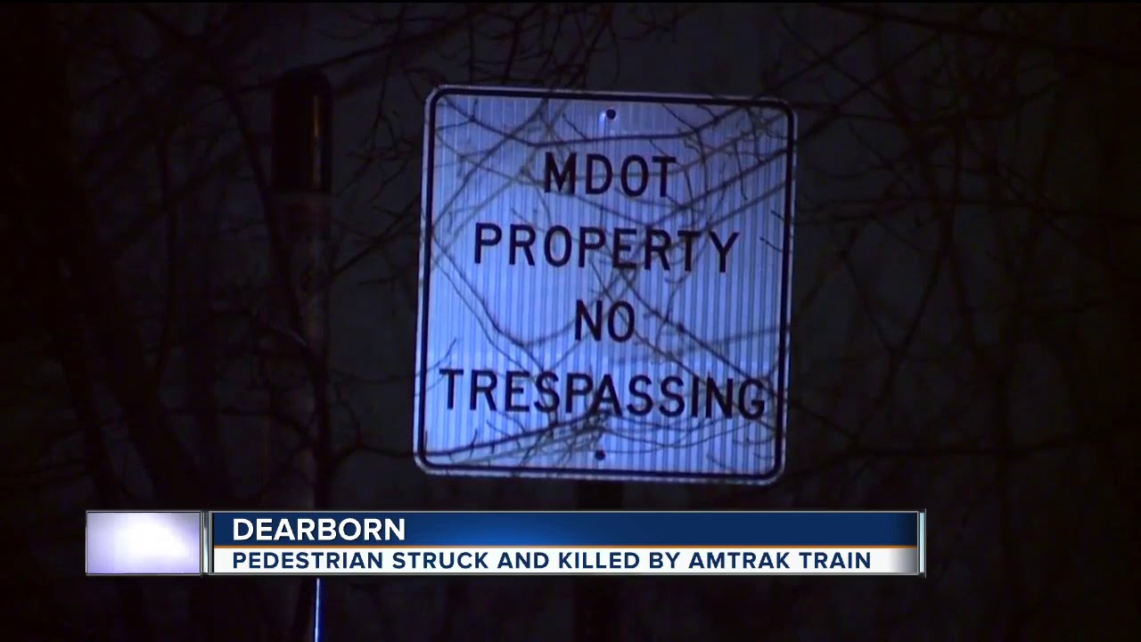 Pedestrian hit & killed by Amtrak train in Dearborn