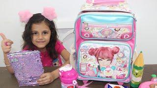 ماذا يوجد في حقيبة المدرسة | مشترياتي للمدرسة٢٠١٩ | سوار والشنطة المدرسية ! sewar and the shcool bag