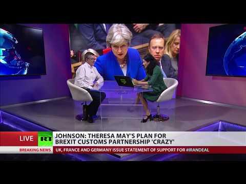 Boris Johnson calls Theresa May's plan for Brexit customs partnership 'crazy'