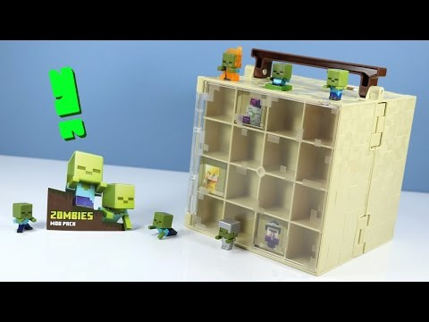 Thumbnail: Minecraft Mini-Figure Zombie MOB Pack & Chest Series Collector Case