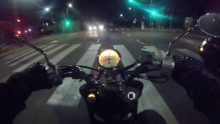 Yamaha Vino 125 Night Ride POV