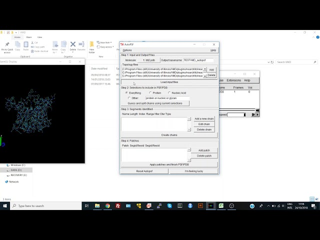 Generating a Protein Structure File (PSF) in VMD
