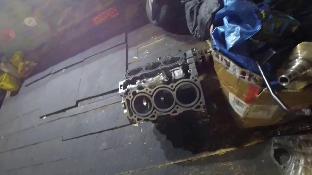собираем двигатель после перегрева infiniti fx 35 VQ35