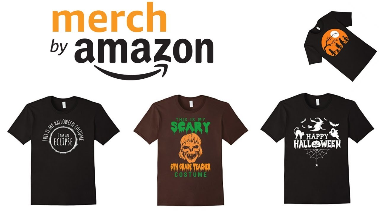 merch by amazon researching designs for halloween read the description