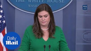 Huckabee Sanders tears up while discussing Las Vegas shooting - Daily Mail