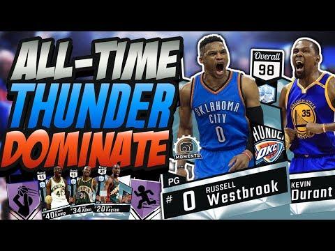 NBA 2K17 MYTEAM ALL -TIME OKLAHOMA CITY THUNDER GAMEPLAY! WESTBROOK & DURANT REUNITED!