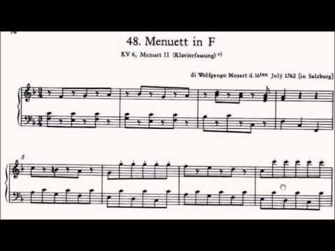 ABRSM Piano 2017-2018 Grade 3 A:5 A5 Mozart Menuett in F Notebook for Nannerl No.42 Sheet Music